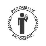 Siluetas del ser humano de los pictogramas Imagen de archivo