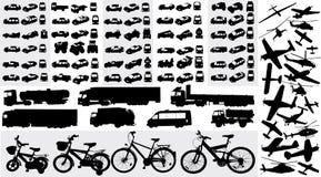 Siluetas del transporte Foto de archivo libre de regalías
