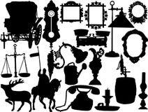 Siluetas del vector Imagenes de archivo