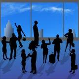Siluetas del vector de la diversa gente Foto de archivo libre de regalías