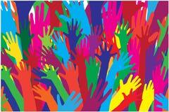 Siluetas del vector del color de manos Foto de archivo libre de regalías