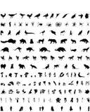 Siluetas del vector fijadas. Conjunto # 4 Fotografía de archivo libre de regalías