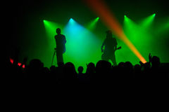 Siluetas en el concierto Fotografía de archivo libre de regalías