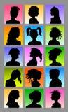 Siluetas femeninas de Avatar Foto de archivo libre de regalías