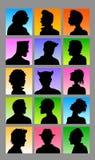 Siluetas masculinas de Avatar Imagen de archivo libre de regalías