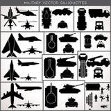 Siluetas militares abstractas Colección del vector Imagen de archivo libre de regalías