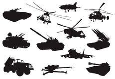 Sistema de los militares stock de ilustración