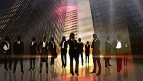 Siluetas negras de hombres de negocios libre illustration