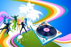 Siluetas y arco iris libre illustration