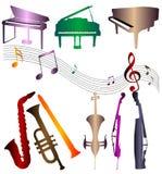 Siluetea el instrumento musical Imagen de archivo