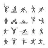 Siluetea figuras de atletas Imagen de archivo