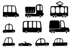 Siluetea los coches Foto de archivo