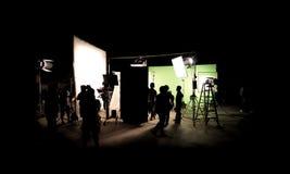 Siluetee las imágenes de la producción video detrás de las escenas fotos de archivo libres de regalías