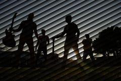 Siluetta Fotografia Stock Libera da Diritti