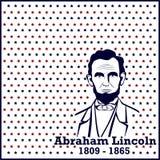 Siluetta Abraham Lincoln Immagine Stock