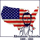 Siluetta Abraham Lincoln Fotografia Stock