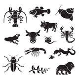 Siluetta - animali illustrazione vettoriale