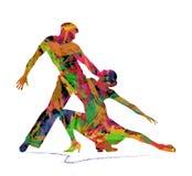 Siluetta astratta dei ballerini Fotografia Stock Libera da Diritti