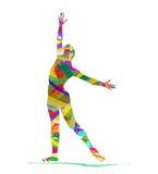 Siluetta astratta di un ballerino Fotografia Stock Libera da Diritti
