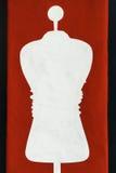 Siluetta bianca del manichino Immagini Stock Libere da Diritti