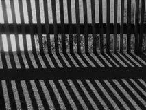 Siluetta bianca nera Fotografie Stock