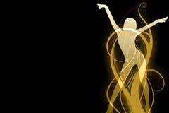 Siluetta calda di dancing Immagini Stock