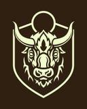 Siluetta capa della Buffalo sullo schermo royalty illustrazione gratis