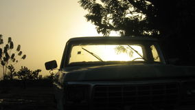Siluetta classica del camion in Africa occidentale Immagine Stock Libera da Diritti