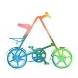 Siluetta compatta dell'acquerello della bici Immagini Stock Libere da Diritti