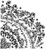 Siluetta con il fiore del quadrante Immagine Stock