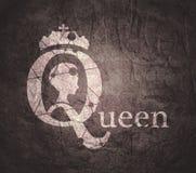 Siluetta d'annata della regina Fotografia Stock Libera da Diritti