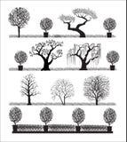Siluetta degli alberi royalty illustrazione gratis