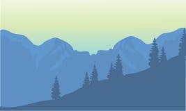 Siluetta degli altopiani illustrazione vettoriale