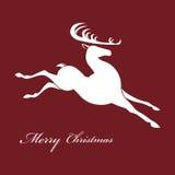 Siluetta dei cervi di Natale illustrazione di stock
