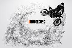 Siluetta dei driver di motocross Illustrazione di vettore Immagine Stock