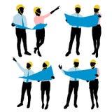 siluetta dei lavoratori illustrazione vettoriale