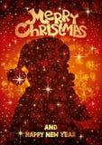 Siluetta del Babbo Natale royalty illustrazione gratis