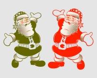 Siluetta del Babbo Natale illustrazione vettoriale