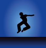 Siluetta del ballerino Fotografia Stock Libera da Diritti