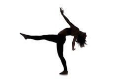 Siluetta del ballerino della donna Immagine Stock