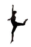 Siluetta del ballerino della donna Immagine Stock Libera da Diritti
