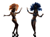 Siluetta del ballerino della samba delle donne Fotografia Stock Libera da Diritti
