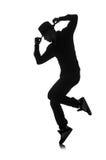 Siluetta del ballerino maschio Fotografia Stock Libera da Diritti
