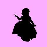 Siluetta del bambino Immagini Stock Libere da Diritti