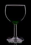 Siluetta del bicchiere di vino Immagini Stock