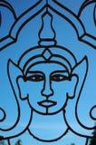 Siluetta del Buddha Fotografie Stock