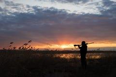Siluetta del cacciatore immagini stock libere da diritti