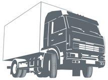 Siluetta del camion di vettore Immagini Stock Libere da Diritti