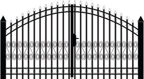 Siluetta del cancello   Immagini Stock