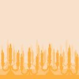 Siluetta del candeliere Fotografie Stock